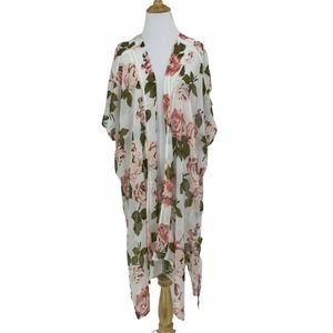 Band of Gypsies Sheer Duster Open Front Cardigan